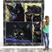 Halloween cat cute 3D Quilt Blanket For Kids Adults Bedding Throw Soft Warm Thin Office Blanket With Cotton Quilt style 4