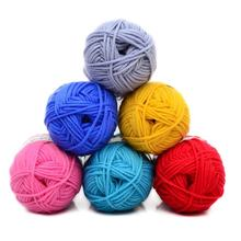 Retail 25g/ball Colorful 4# Combed Soft Baby Milk Cotton Yarn Fiber Velvet Yarn Hand Knitting Wool Crochet Yarn DIY SweaterJK476(China)