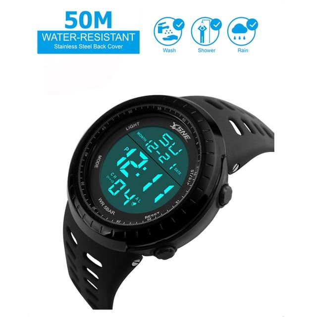 Men Sports Watches Fashion Chronos Countdown Men's Waterproof LED Digital Watch Man Military Clock Relogio Masculino 2