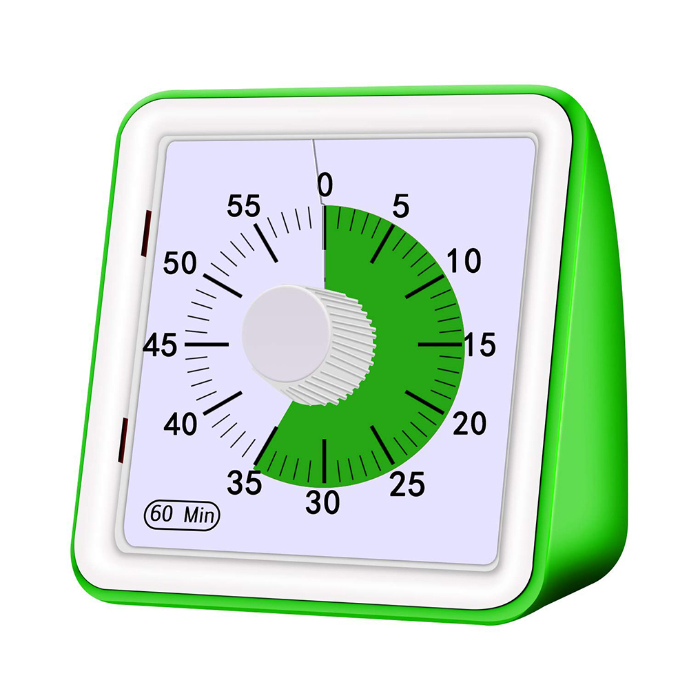 60 Minutes Analog Visual Timer, Silent Countdown, Time Management Tool For Children And Adults Visual Analog Timer(China)