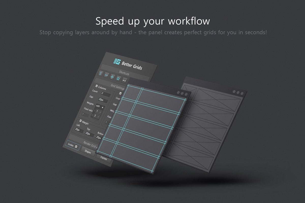 软件插件-PS扩展面板 网格布局创建插件Better Grids – Layout Creation Kit(8)