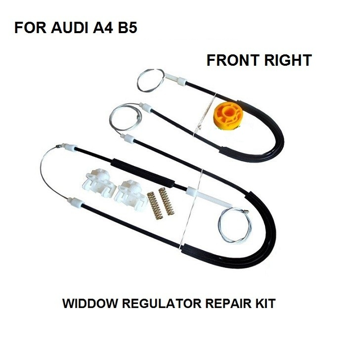 FREE SHIPPING OE#8D0837462 CAR PARTS FOR AUDI A4 B5 WINDOW REGULATOR REPAIR KIT FRONT RIGHT 1994-2001 NEW