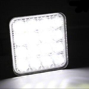 Image 5 - 4 pces carro conduziu a barra worklight 48w 12v offroad trabalho luz de nevoeiro lâmpada 16 lâmpada led trator farol lâmpadas holofotes para caminhão atv 4 i
