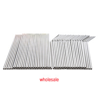EIMAI Straws 100pcs/lot Silver Metal Straw Reusable Wholesale Stainless Steel Drinking Tubes 215mm*6mm Straight Bent Straws
