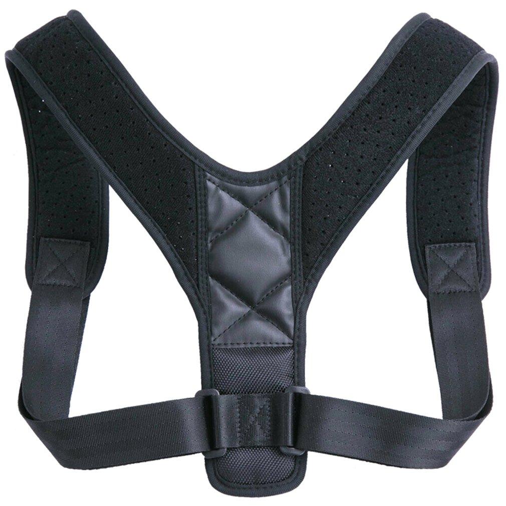 Коррекция спины с дышащим регулируемым горбатым сидением Корректор осанки для мужчин и женщин детей Поддержка спины и плеч