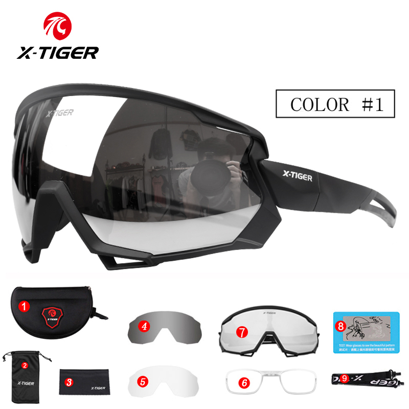 X-TIGER Polarized Wind Cycling Glasses Outdoor Sports Bicycle Glasses MTB Bike Sunglasses Goggles Mountain Bike Cycling Eyewear 1