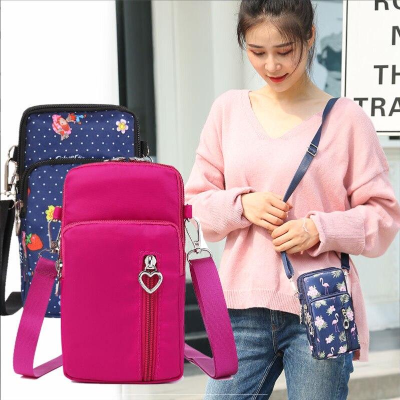 Cross-body Mobile Phone Arm Shoulder Bag Pouch Case Belt Women Men Handbag Purse Wallet Pouch Shoulder Wrist Bag For Iphone 11