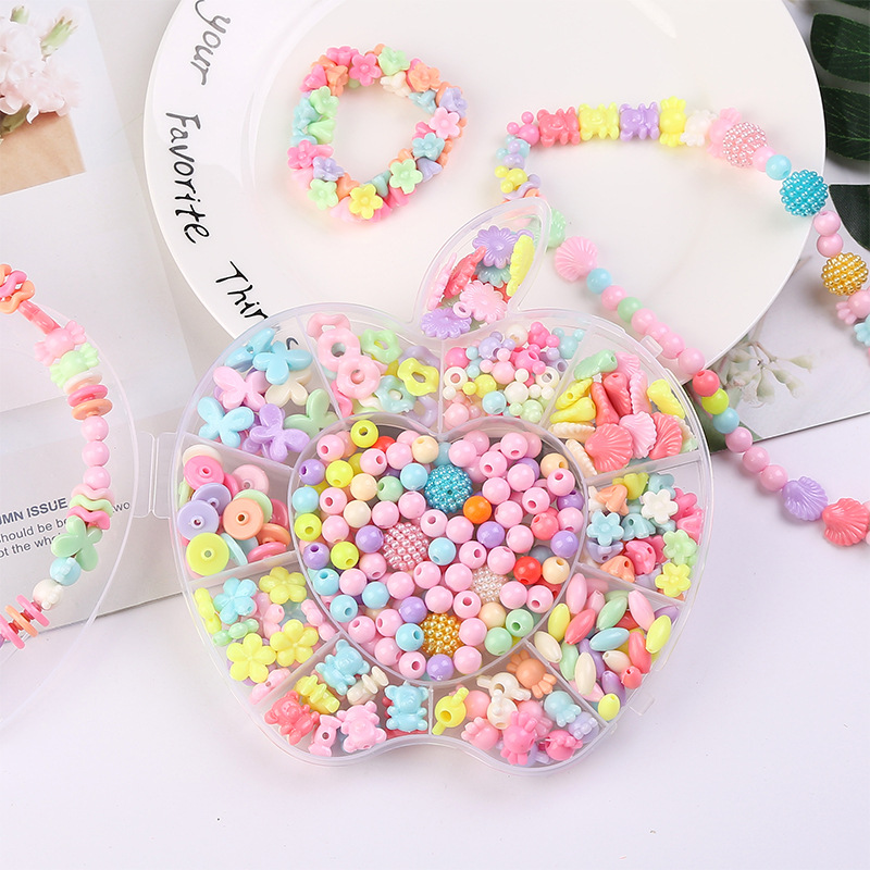 DIY Children Bead Toy Handmade Early Education Material CHILDREN'S Wear Beads Educational Toy Apple