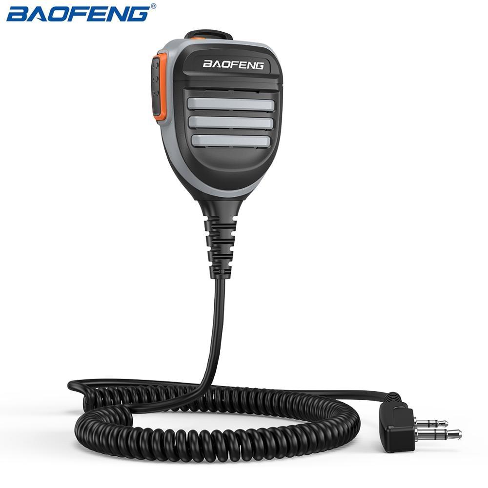 Baofeng Waterproof PTT Shoulder Speaker Microphone for TYT Baofeng Walkie Talkie UV-5R BF-888S UV-82 Two Way Radio