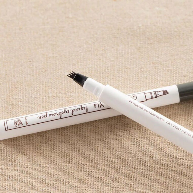 1pc 4 Head Fine Sketch Liquid Pencil Microblading Eyebrow Tattoo Pen Waterproof Brown Thin Pen Eyebrow Enhancers  Makeup Tool 4