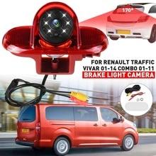 CCD HD Auto Rückansicht Kamera Backup Parkplatz Bremse Licht für Renault Trafic 2001 2014 für Vauxhall Vivaro Combo opel