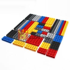 Image 4 - Технические строительные блоки, детали оптом MOC, толстые блоки, аксессуары для комбинации, шипованные длинные лучи, робот, детские игрушки