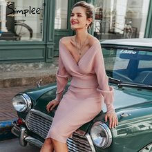 Skirt Suits Sweater Pink Dress Simplee Knitted Autumn Batwing-Sleeve Sexy Women Female