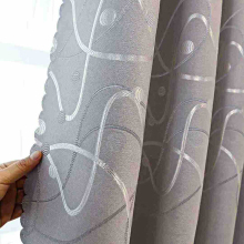 Popangel 2020 New Design Hot Sale Polyester Jacquard Blackout Living Room Window Curtains Be Customized Bedroom Curtains