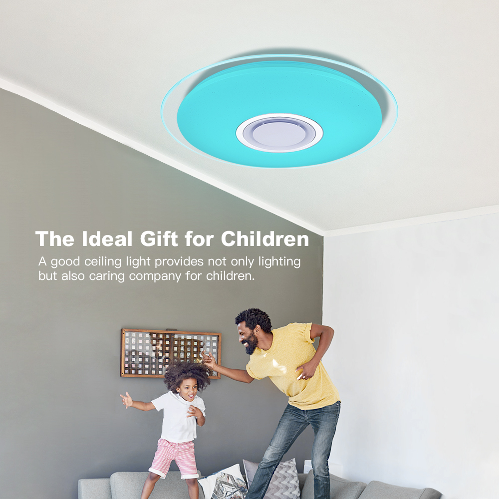 Image 5 - Modern LED ceiling Lights RGB Dimmable 25W 36W 52W APP Remote control Bluetooth Music light foyer bedroom ceiling lamp-in Ceiling Lights from Lights & Lighting