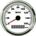 85mm Weiß GPS Tacho Wasserdichte 160MPH für Auto Lkw Motorrad Marine GPS Tacho-in Messgeräte & Instrumententafeln aus Kraftfahrzeuge und Motorräder bei