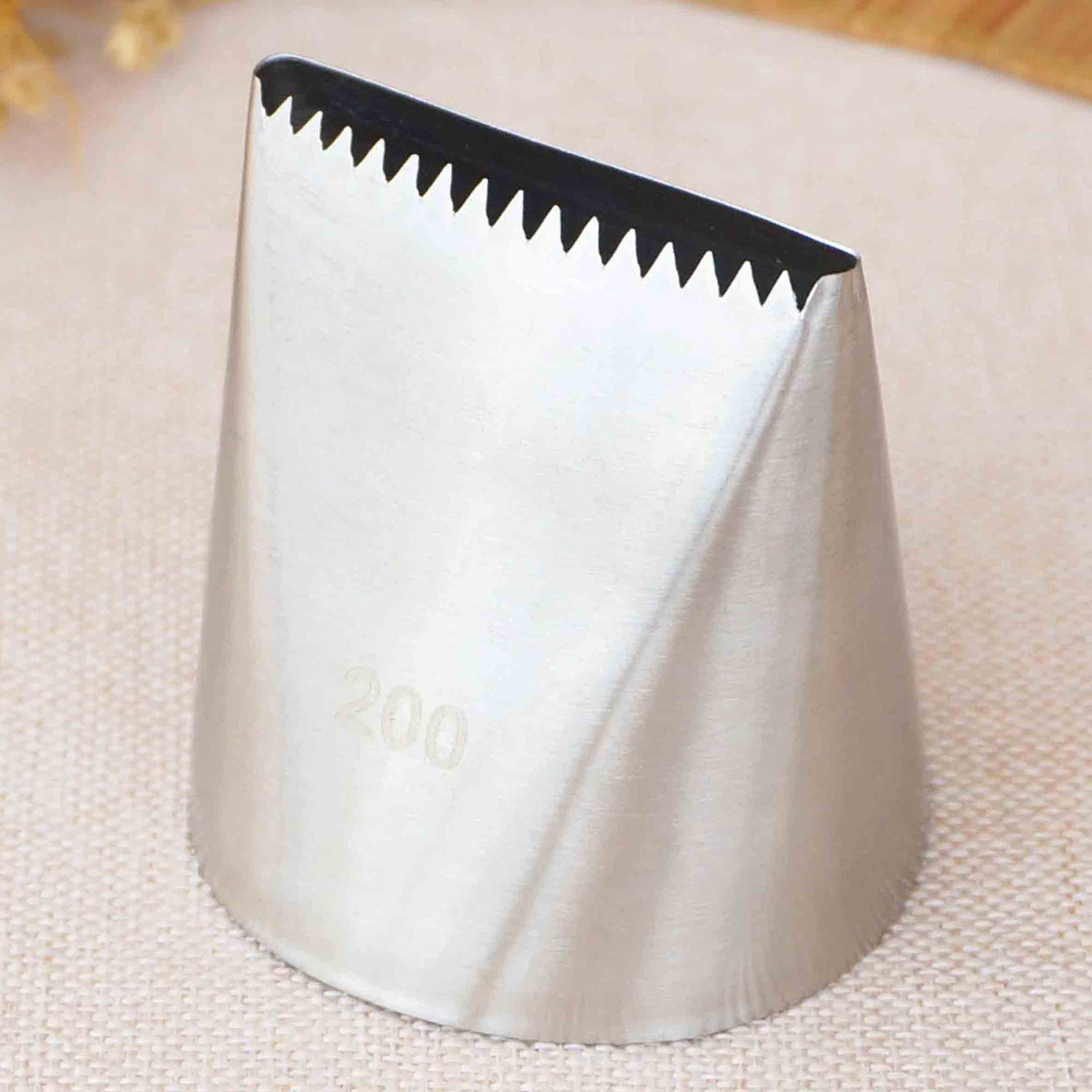 #200 Large Size Basketweave Piping Nozzle Basket Weave Cake Decorating Tip Nozzle Baking Tools Bakeware Icing Tips
