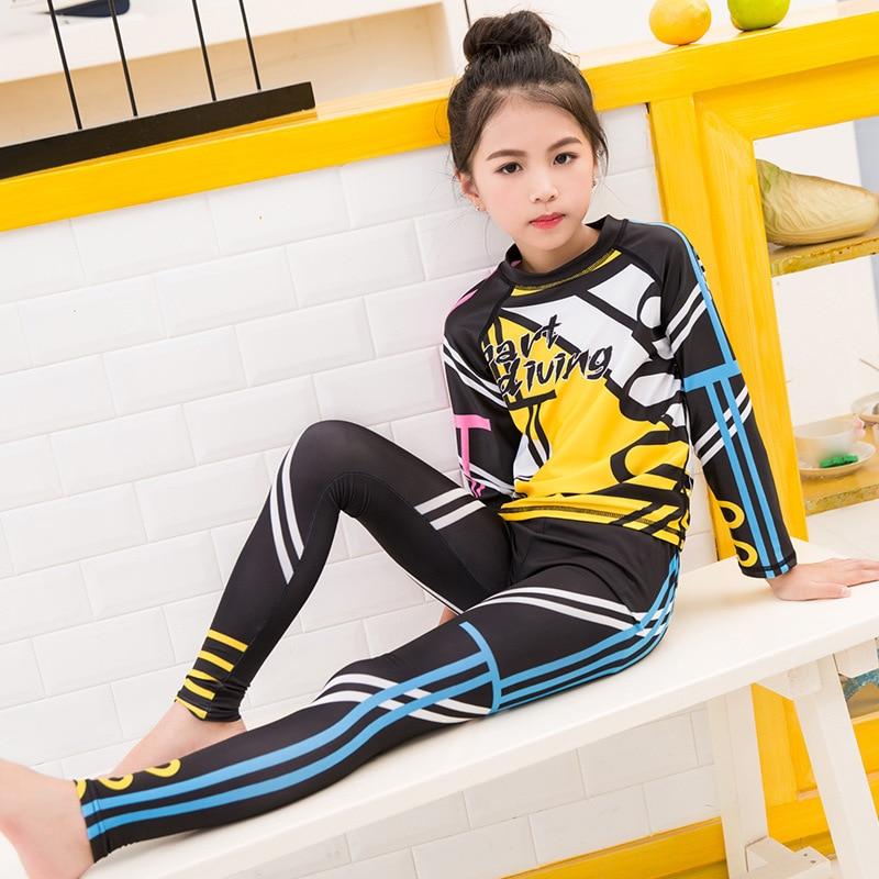 Korean-style KID'S Swimwear GIRL'S Split Type Big Boy Sun-resistant Long Sleeve Girls Diving Suit BOY'S Baby Swim Bathing Suit W