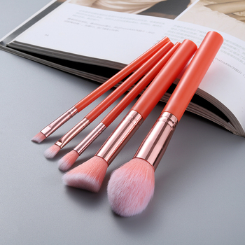 FLD 5pcs Kabuki Makeup Brushes Set Foundation Powder Small Eye Shadow Eyebrow Blending Concealer Cosmetic Brush Kit Professional 2