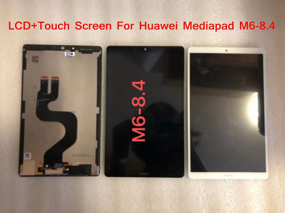 100% Qualidade Original Tablet Substituição Da Tela LCD Para Huawei MediaPad M6 8.4 Com Digitador Da Tela de Toque Com Frete Grátis