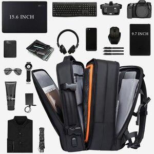 Image 3 - 40L rozszerzalny plecak podróżny o dużej pojemności mężczyźni 15.6 calowy plecak na laptopa Travel FAA torba weekendowa zatwierdzona lotem dla kobiet