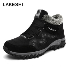 2019 New Men Boots Hot Shoes Plush Warm Snow Winter Footwear Outdoor Hiking Male Adult Sneakers