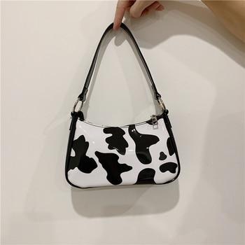 fashion cow pattern women handbags designer shoulder bags luxury patent pu leather messenger bag lady small purses female totes