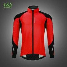 WOSAWE Warm Up Winter MTB Motorcycle Jackets Windstopper Thermal Fleece Motorbiker Coat Mens Running Sportswear Windbreaker