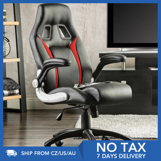 Furgle Racing Office Chair Ergonomic Executive Chair 360° Rotatable with Adjustable Headrest Gaming Chair in Office Furniture 1