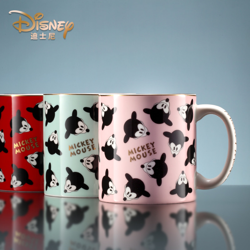 500ml-Disney-Minnie-Mickey-Cartoon-Water-Cup-Coffee-Milk-Tea-Breakfast-Ceramic-Mug-Home-Office-Collection