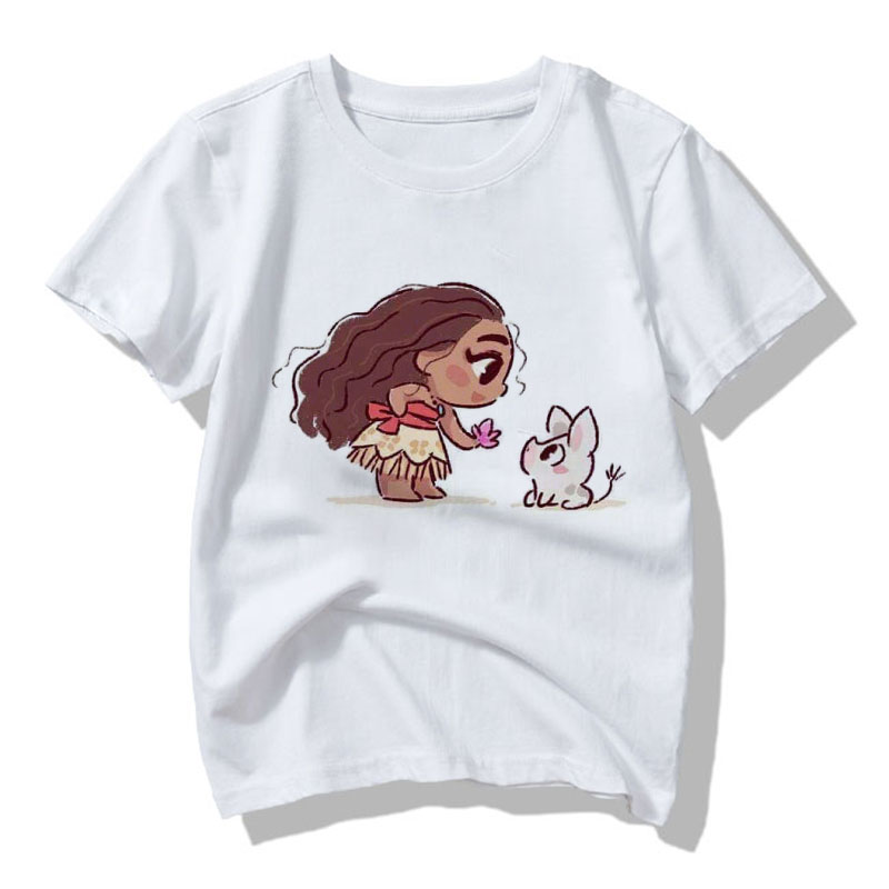 Cute Baby 24M-9T Girl T-shirt Kawaii Girls Shirts For Children Princess Prints Cartoon Kids T Shirt Summer Clothes Vogue Casual