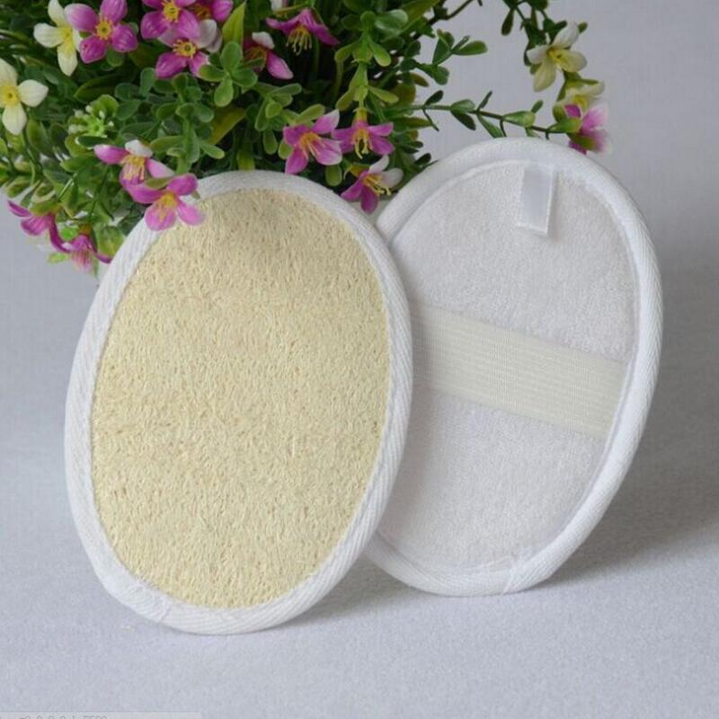 11*16 Cm Natural Loofah Pad Loofah Scrubber Remove The Dead Skin Loofah Pad Sponge For Home Or Hotel LX8851