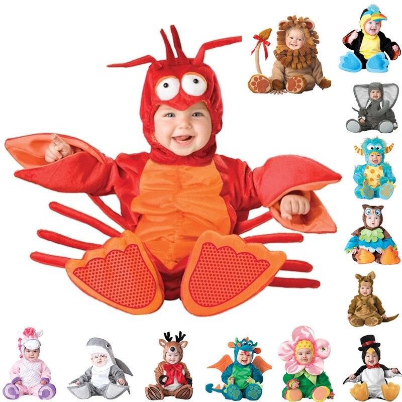 Nouveauté haute qualité bébé garçons filles Halloween dinosaure Costume barboteuse enfants vêtements ensemble enfant en bas âge co-splay Triceratops
