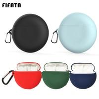 FIFATA-funda protectora de silicona para auriculares, con gancho, para Huawei Freebuds 3, auriculares inalámbricos con Bluetooth
