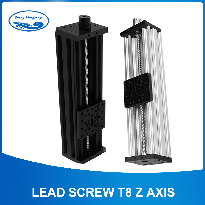 Lead Screw T8 Z Axis 3d Printer Open builds Z-axis Diy C-beam CNC Sliding Table 300mm 400mm 350mm Linear Actuator Bundle Kit