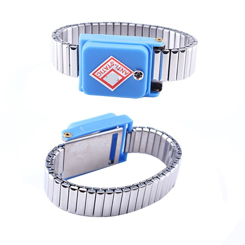 Metal Anti Static Wrist Band Wireless ESD  Discharge Cordless Bracelet Supplies