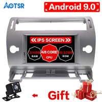 Android9.0 lecteur DVD de Navigation GPS de voiture Octa Core pour citroën C4 Quatre Triumph 2004-2012 multimédia radio GPS navigation vidéo