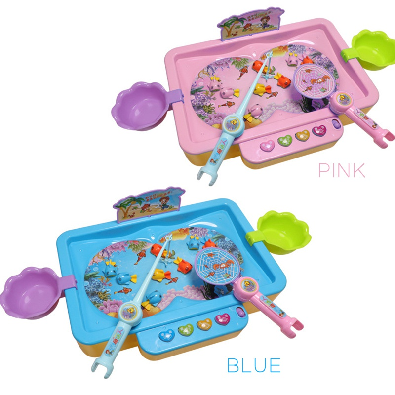 Children's Plastic Electric Fishing Platform Educational Fish Game Kids Early Education Toy
