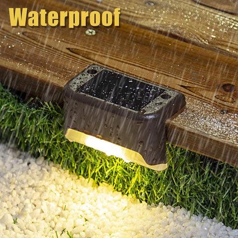 8 pcs led a prova dwaterproof agua solar deck luzes ao ar livre decoracao do
