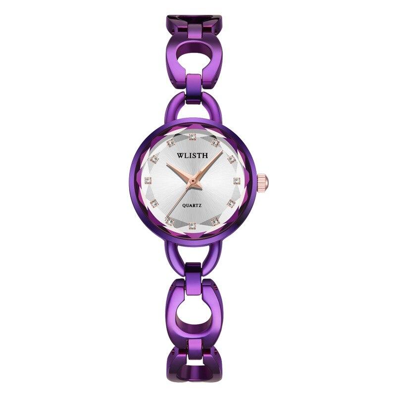 Female Watch Purple Small Women Watch Stainless Steel Women's Bracelet Watches Womage Waterproof Hours Clock Best Seller 2020