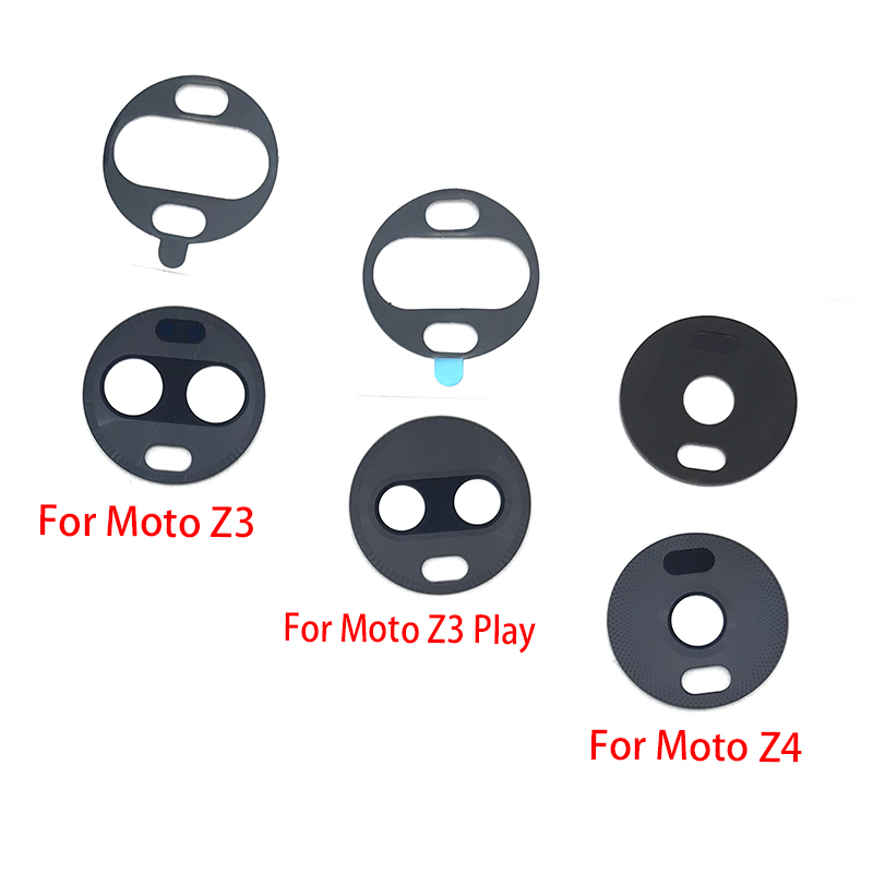 Back Rear Camera Glass Lens Cover With Adhesive For Motorola Moto Z4 Z3 Play