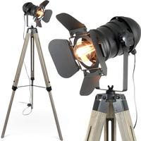 Wooden Tripod Lamp AC100-240V Stand light Wood Foor Lamp  For Living Room