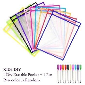 Reusable PP แฟ้มกระเป๋าปากกา,เด็ก DIY แห้ง Erasable กระเป๋า A4/จดหมายแขวนแฟ้ม PP ใช้สำหรับอุปกรณ์การสอน