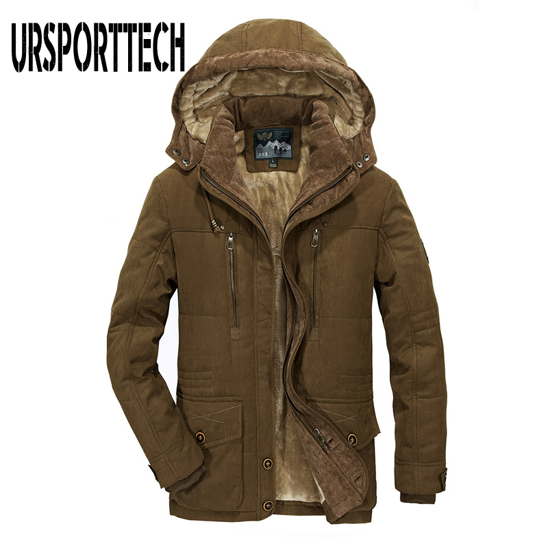 Men   Parka   Winter Jacket Men 2019 New Fashion Brand Fleece Thicken Warm Coat Windproof Casual Hooded Military   Parka   Plus Size 7XL