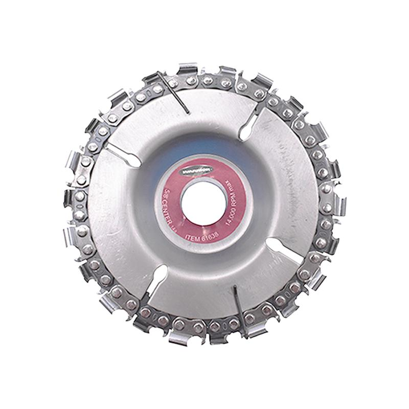 4 Inch Grinder Disc And Chain Fine Abrasive Cut Chain Carver Attachment For Angle Grinder