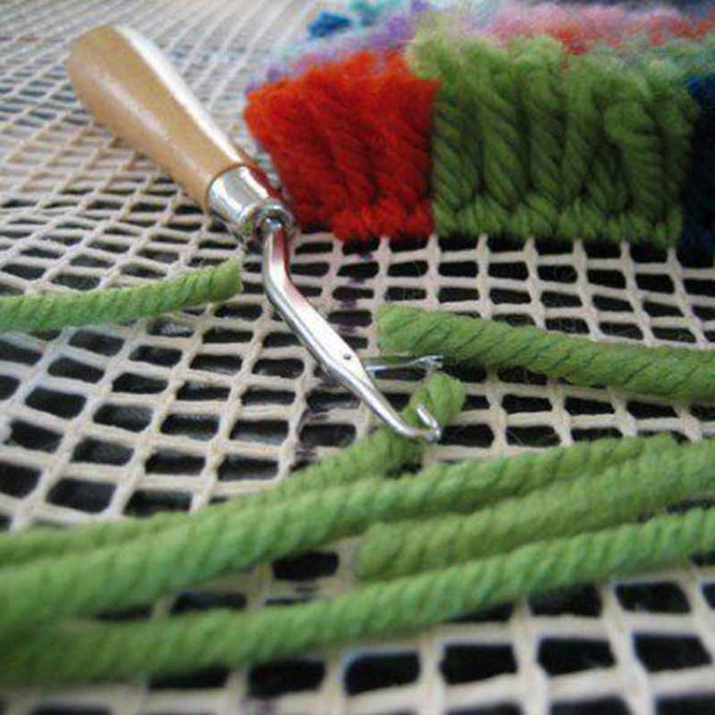 Modello libero Tappetini Aggancio di Tela Maglia di Legno Piegato Gancio del Fermo Kit FAI DA TE Strumento per Arazzi Tappeto Tappetini Che Fanno Artigianato Del Ricamo