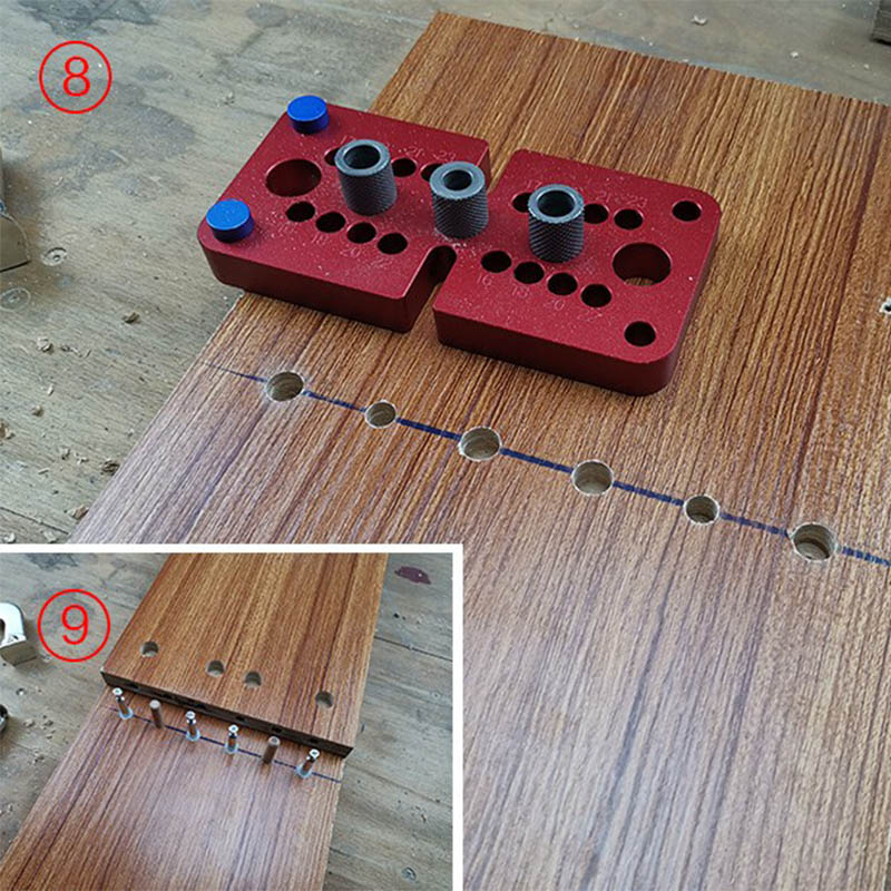Woodworking 3 In 1locator Punch Hole Opener Dowel Punch Woodworking DIY Tools