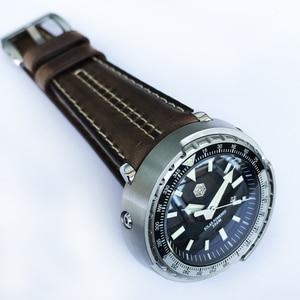 Image 3 - San Martin nowy tuńczyk SBDC035 zegarki ze stali nierdzewnej nurkowanie zegarki 30ATM VS37 zegarek kwarcowy dla kobiet mężczyzn