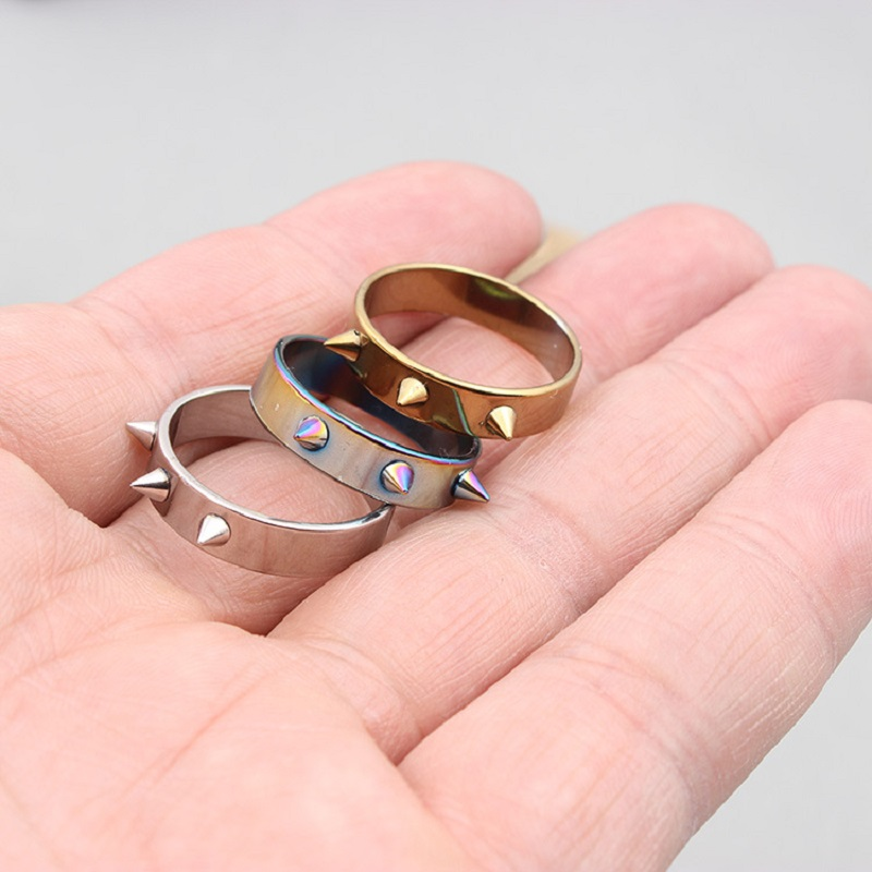 Self Defense Ring Personal Defense Ring Weapon Titanium Steel Men Women Knuckles Ring For Self-defense - Random Color