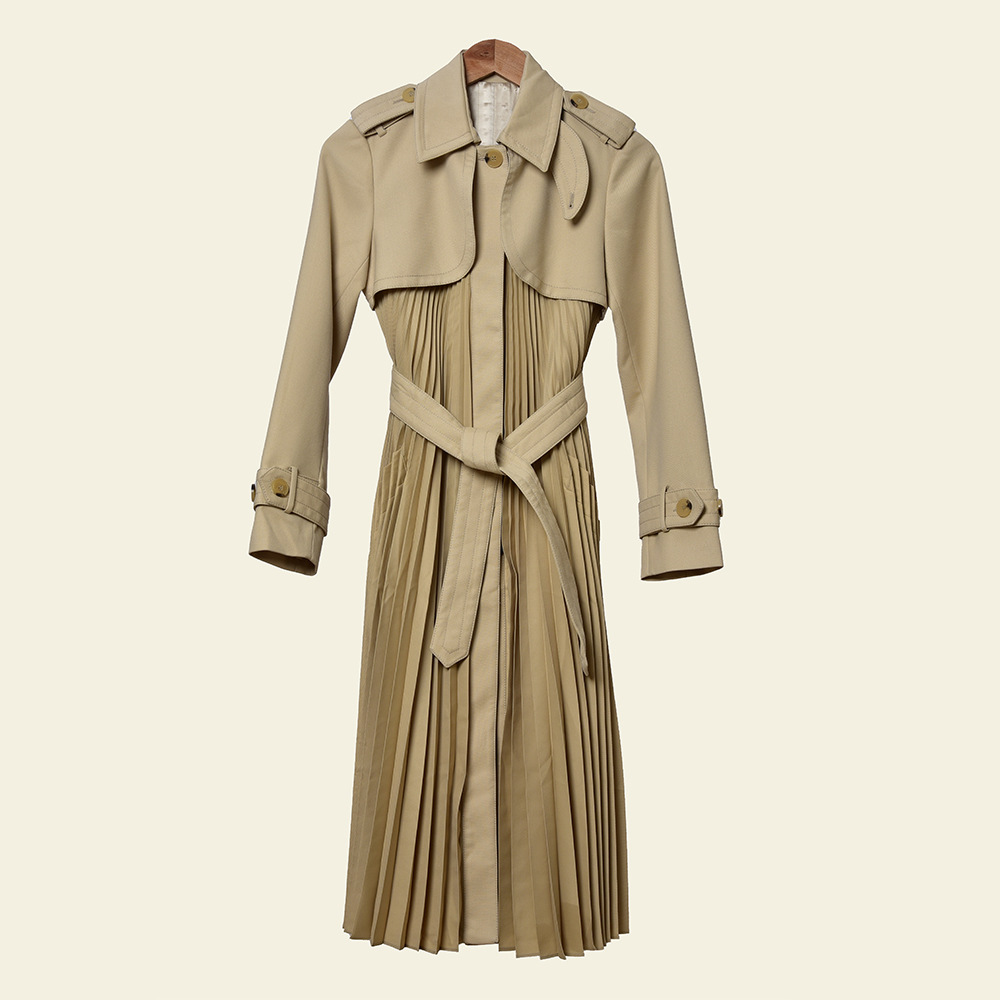 Women Trench 2020 Spring and Summer New Lapel Lace-up Windbreaker Jacket Women